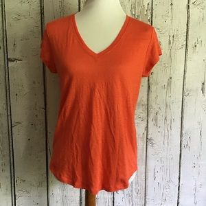 Joie NWT linen orange blouse size XS
